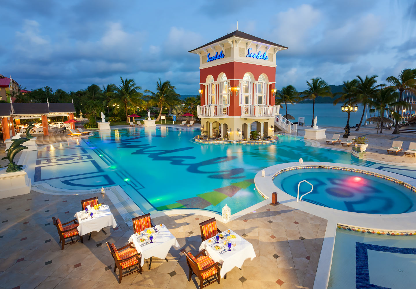 hired caribbean sandals grande st lucia